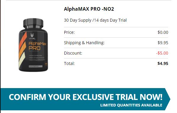 AlphaMax Pro -NO2 price